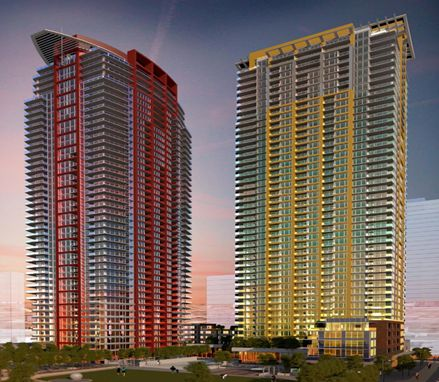 From Civic San Diego website drawing of the Pinnacle(s) project looking to northeast.