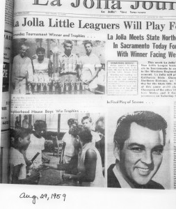 1959 La Jolla Journal clipping showing Neighborhood House boys winning trophies
