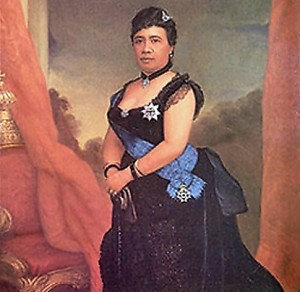 Queen Liliuokalani at Iolani Palace in Honolulu