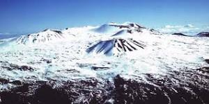 The Mauna Kea Summit in winter
