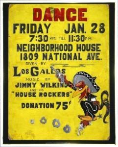 """Los Gallos"" dance poster (Courtesy of Richard Romio)"