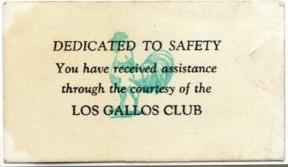 Los Gallos Assistance courtesy card