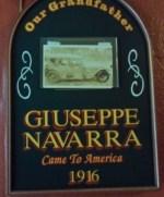 Grandfather Giuseppe Navarra sign