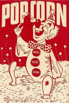 popcorn clown