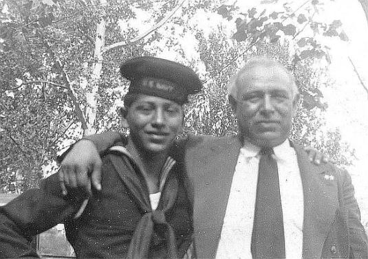Jesse and his father, Francisco Ramirez, 1942