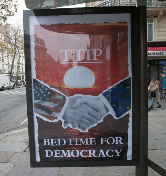 Billboard: TTIP - Bedtime for Democracy