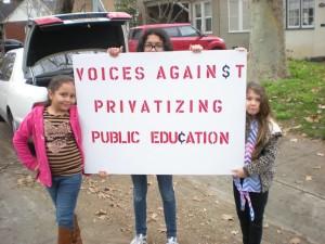 voices against privatizing education