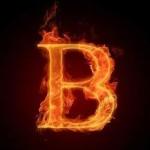 B on fire