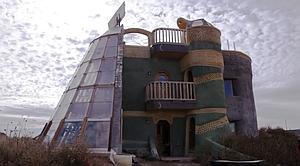 A Michael Reynolds Earthship near Taos, New Mexico