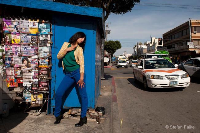 Azzul Monraz, front woman of Madame Ur y su Hombres, in Tijuana, March 2012.