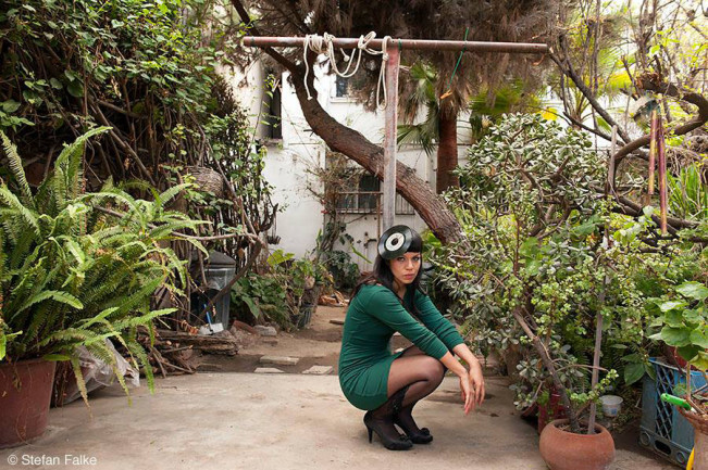 Siki Carpio, front woman and founder of the band Cristina Crème, in her house in Tijuana, Mexico.
