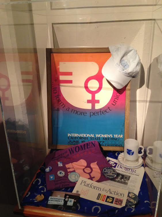 Some of Anne Hoiberg's personal collection from the U.N. World Conference on Women