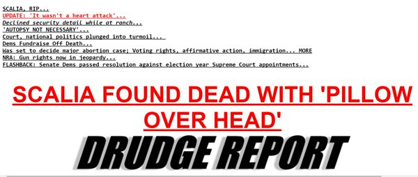 drudge conspiracy