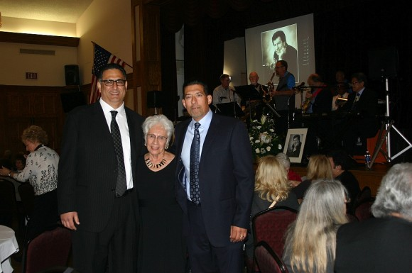 Benny's sons, Mark and Eric Hollman and Connie Zuñiga at the Celebration of Life for Benny Hollman. Photo courtesy of Ric Romio.