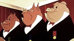 pigs in ties