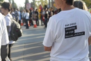 showing up for racial justice tee