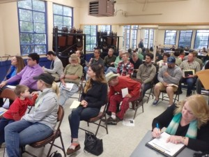 The audience at the OB Planning Board meeting, April 6, 2016.