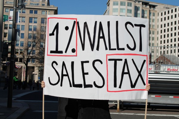 Sign: 1% WALL ST SALES TAX
