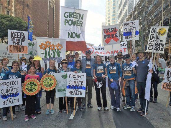 Bill McKibben with San Diegans at Break Free rally in Los Angeles May 21, 2016