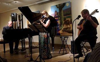 Lori Bell trio performing at La Jolla Community Center