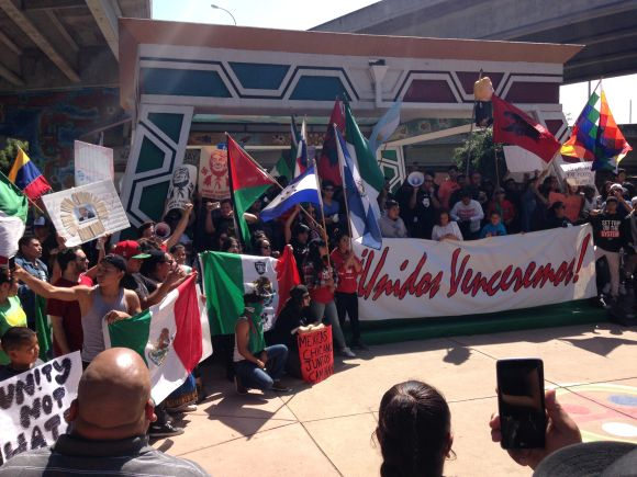 Rally in Barrio Logan