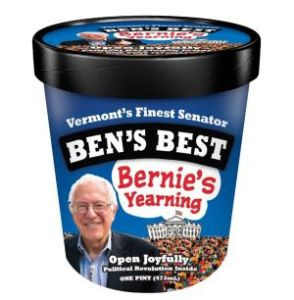 Ben Cohen of Ben and Jerry's Dishes Up Some Ice Cream for Bernie in San Diego