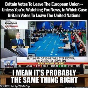 Britain leaves UN Fox