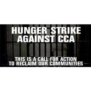 "Graphic for ""Hunger Strike Against CCA"""