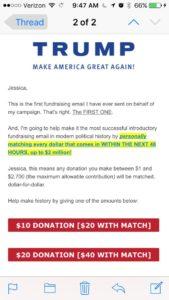 trump email