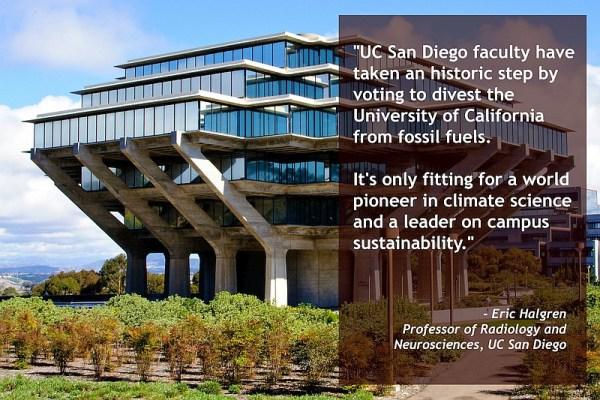 SanDiego350 UCSD divestment graphic