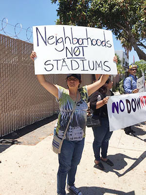 Marisol is down for the barrio not a stadium.