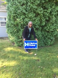 Denise Harrison, volunteer for the Clinton/Kaine campaign. Clinton-Kaine