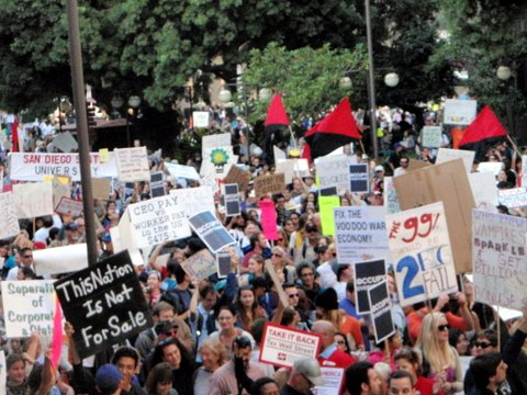 Day one of the San Diego Occupy movement. Photo by Doug Porter, Oct. 7, 2011. Occupy Wall Street