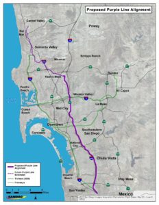 Proposed Route for the Purple Line