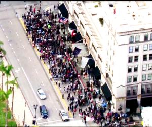 Trump protest San Diego Nov. 16