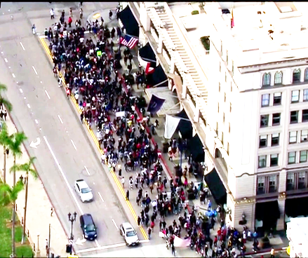 Trump protest and protesters San Diego Nov. 16