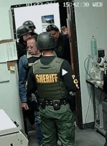 Capture of police raid from video