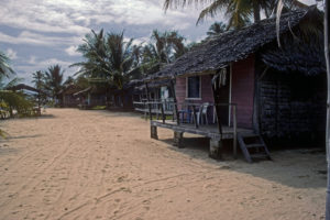 Kosrae's Sandy Beach from 1980's; Kosrae, Micronesia