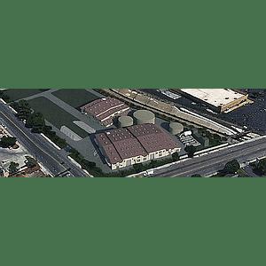 Reverse osmosis plant, Escondido, aerial view