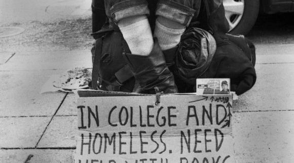 homeless college