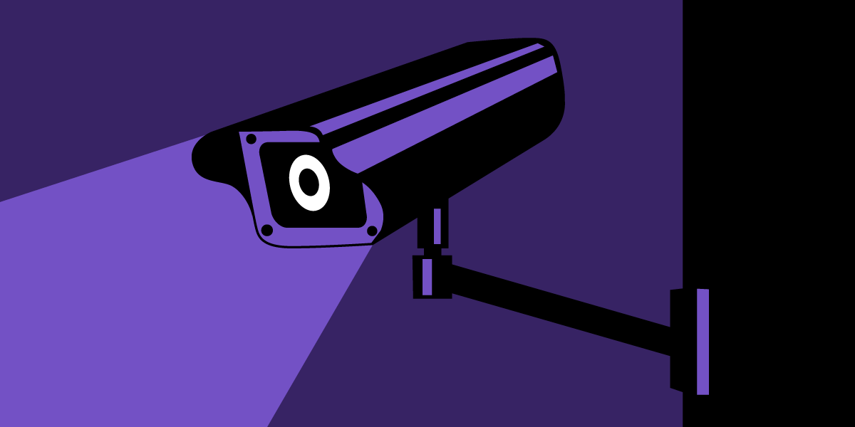 Graphic of surveillance camera