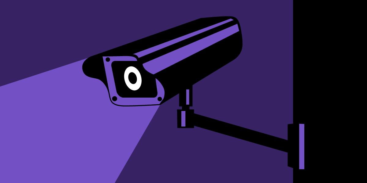 Graphic of surveillance camera