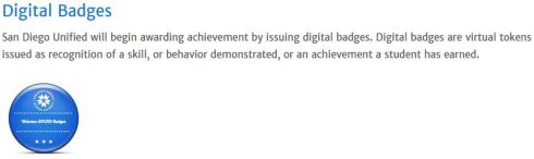 "San Diego Unified School District ""digital badge"""