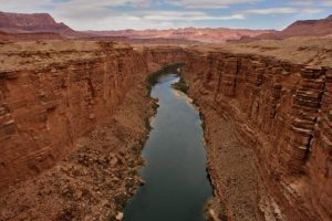 View of Colorado River along Marble Canyon