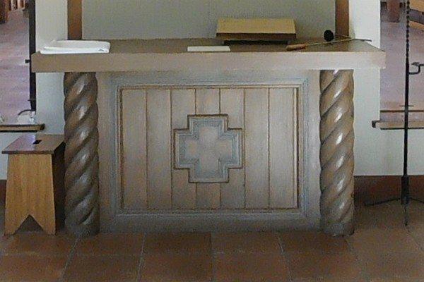 Wooden altar