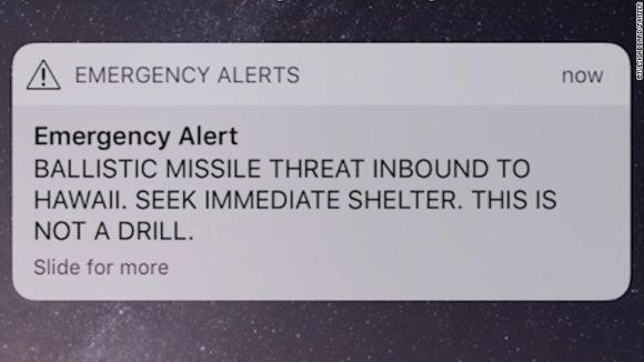 Panic in Hawaii over 'inbound ballistic missile threat'