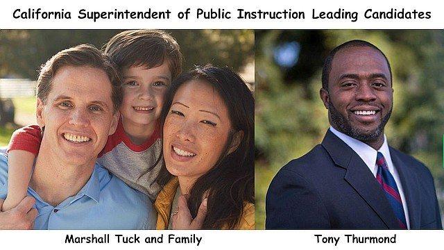 Campaign photos: Marshall Tuck and Family; Tony Thurmond