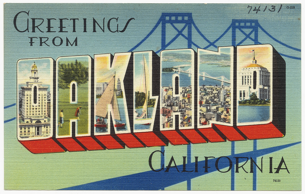 """""""Greetings from Oakland, California"""" postcard"""