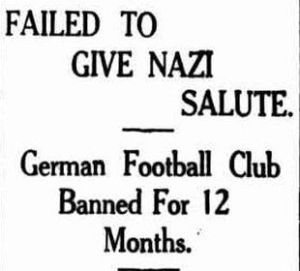 The Time the German Football Club Didn't Give Nazi Salute