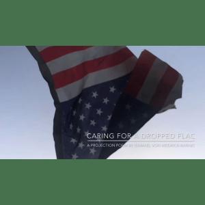 American flag falling